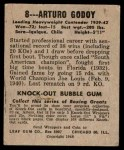 1948 Leaf #8  Arturo Godoy  Back Thumbnail