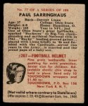 1948 Bowman #77  Paul Sarringhaus  Back Thumbnail