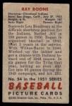 1951 Bowman #54  Ray Boone  Back Thumbnail