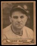 1940 Play Ball #176  Heinie Manush  Front Thumbnail