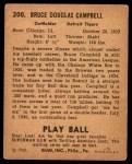 1940 Play Ball #200  Soupy Campbell  Back Thumbnail