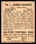 1948 Leaf #24 RED Jim Martin  Back Thumbnail