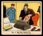 1931 Johnson Candy Dick Tracy R41 #4   Big Boy Packs Up Front Thumbnail