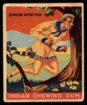 1933 Goudey Indian Gum #63  Simon Kenton   Front Thumbnail