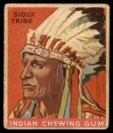 1933 Goudey Indian Gum #6   Sioux Tribe  Front Thumbnail