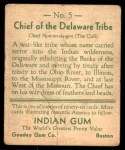 1933 Goudey Indian Gum #5   Delaware Tribe  Back Thumbnail