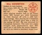 1950 Bowman #239  Bill Howerton  Back Thumbnail