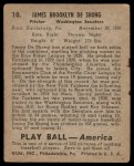 1939 Play Ball #10  Jim DeShong  Back Thumbnail