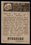 1951 Topps Ringside #82  Joey Dejohn  Back Thumbnail