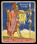 1933 Goudey Indian Gum #18   Warrior of the Osages Tribe  Front Thumbnail