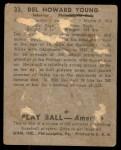 1939 Play Ball #33  Del Young  Back Thumbnail