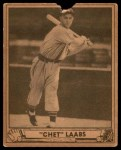 1940 Play Ball #206  Chet Laabs  Front Thumbnail