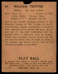 1940 Play Ball #54  Bill Trotter  Back Thumbnail