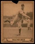 1940 Play Ball #217  Walter Beck  Front Thumbnail