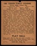 1940 Play Ball #180  Mickey Cochrane  Back Thumbnail
