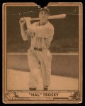 1940 Play Ball #50  Hal Trosky  Front Thumbnail