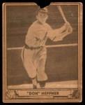 1940 Play Ball #51  Don Heffner  Front Thumbnail