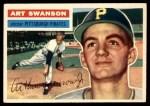 1956 Topps #204  Art Swanson  Front Thumbnail