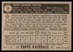 1952 Topps #19  Johnny Bucha  Back Thumbnail