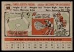 1956 Topps #98  Camilo Pascual  Back Thumbnail