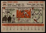 1956 Topps #84  Babe Birrer  Back Thumbnail