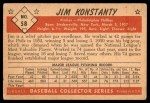 1953 Bowman B&W #58  Jim Konstanty  Back Thumbnail
