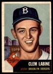 1953 Topps #14  Clem Labine  Front Thumbnail