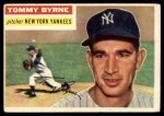 1956 Topps #215  Tommy Byrne  Front Thumbnail
