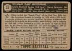 1952 Topps #23  Billy Goodman  Back Thumbnail