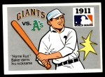 1971 Fleer World Series #9   1911 Giants / A's (Home Run Baker) -   Front Thumbnail