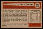 1954 Bowman #79  Curt Simmons  Back Thumbnail