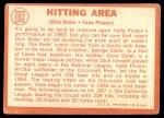 1964 Topps #162   -  Vada Pinson / Dick Sisler Hitting Area Back Thumbnail