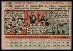 1956 Topps #195  George Kell  Back Thumbnail