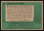 1956 Topps Davy Crockett #23 GRN  Prepare To Fire!  Back Thumbnail