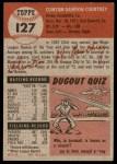 1953 Topps #127  Clint Courtney  Back Thumbnail