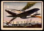 1952 Topps Wings #5   F-51 Mustang Front Thumbnail