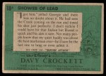 1956 Topps Davy Crockett #18 GRN  Shower of Lead  Back Thumbnail