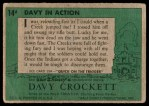 1956 Topps Davy Crockett #14 GRN  Davy in Action  Back Thumbnail