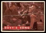 1956 Topps Davy Crockett #63 GRN  Davy's Song  Front Thumbnail