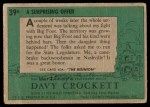 1956 Topps Davy Crockett #39 GRN  A Surprising Offer  Back Thumbnail