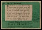 1956 Topps Davy Crockett #36 GRN  Davy's Down!  Back Thumbnail