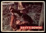 1956 Topps Davy Crockett #36 GRN  Davy's Down!  Front Thumbnail
