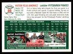 1954 Topps Archives #16  Vic Janowicz  Back Thumbnail