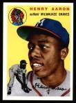 1954 Topps Archives #128  Hank Aaron  Front Thumbnail