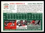 1954 Topps Archives #149  Jim Robertson  Back Thumbnail