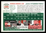 1954 Topps Archives #235  Vern Law  Back Thumbnail