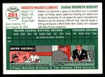 1954 Topps Archives #251  Roberto Clemente  Back Thumbnail