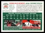1954 Topps Archives #162  Herm Wehmeier  Back Thumbnail
