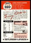 1953 Topps Archives #260  Sammy Calderone  Back Thumbnail