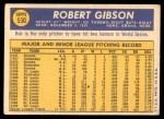 1970 Topps #530  Bob Gibson  Back Thumbnail
